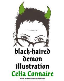 Black-Haired Demon Illustration