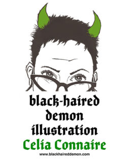Black-Haired Demon Illustration